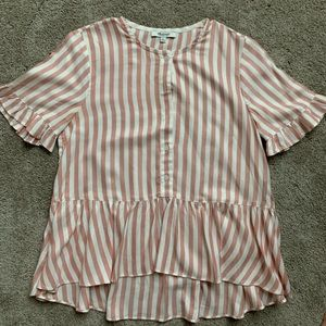 Madewell stripe peplum top